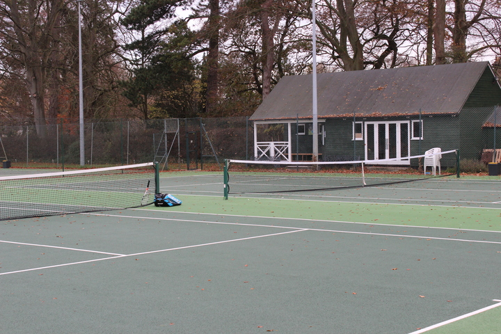 Courts 1 & 2 and the club house