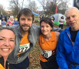 Taking part in the Midlands XC champs