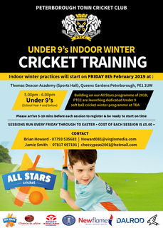 Under 9s winter indoor sessions 2019