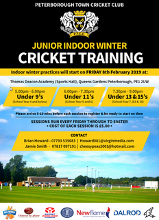 Junior winter nets 2019