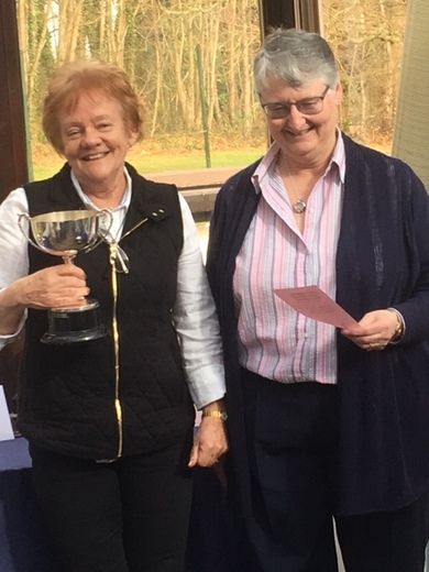 Patricia Sewell winning Honorary Freemans Eclectic, December Stableford and October RU