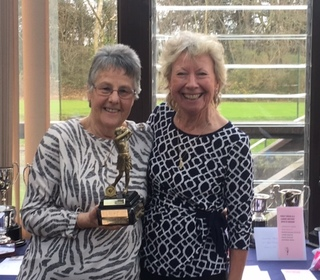 Sue Jelley and Marion West winners of the Ladies Doubles KO