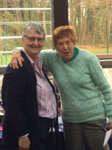 Jean Bailey wins Frances Bourne Eclectic, Ladies Singles, Nov Medal, Mixed Doubles with Roy Brewster