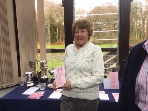 Heather Day Winning 9 Trophies, 2 RU Prizes, Jan 9 hole stableford, Nov stableford and LGU Pendant