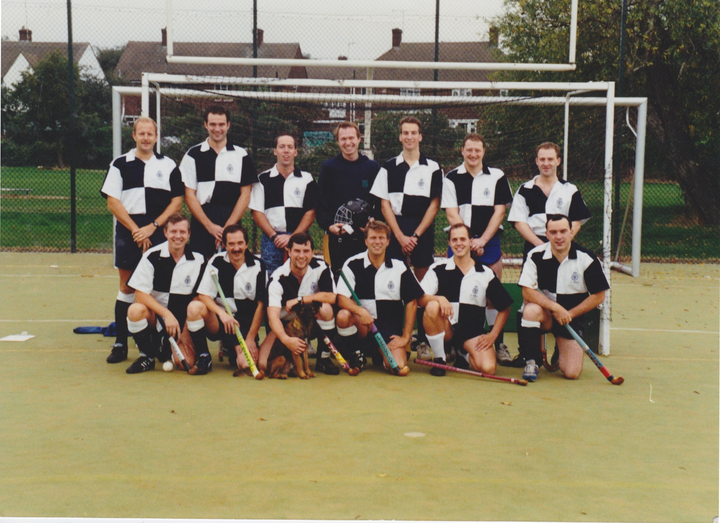 The mens 1st XI after their first ever league game.