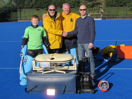 Bruce Mann and his Son Griff with the Goalkeeper coaches