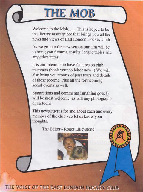 The original ELHC newsletter