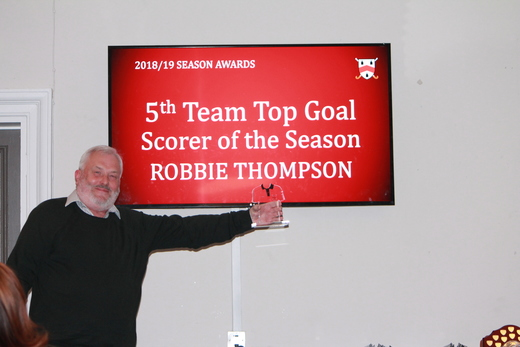 Robbie Thompson (collected by Neil Ward) - 5th Team Goal Scorer of the Season