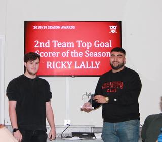 Ricky Lally - 2nd team Goal Scorer of the Season