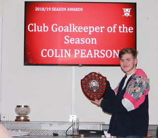 Colin Pearson (collected by Jack) - Club Goalkeeper of the Season