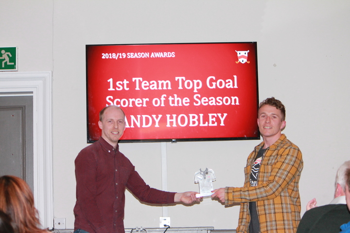 Andy Hobley - 1st Team Goal Scorer of the Season