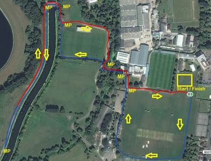 Imber court relays course map