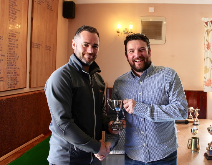 David Haines presents 2nd Team Player of the Year to Goalkeeper James Hanna