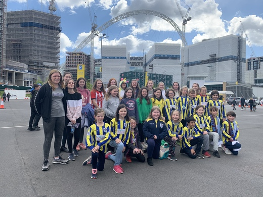 RTYFC girls at Wembley for the U17 Girls cup final