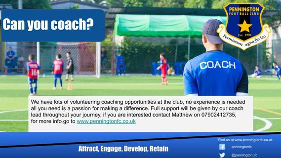 Volunteer Coaches wanted