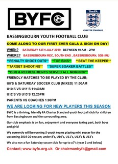 BYFC SIGN ON & GALA DAY 2019