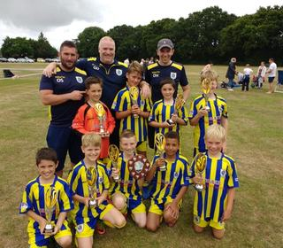 U10 Panthers winning Fawley Falcons tournament for the second year in a row