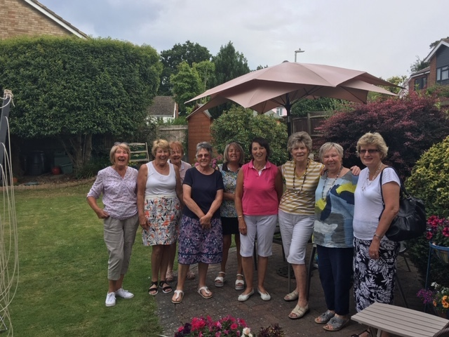 Lady Captain Sue held a charity day at her home and raised over £146 photo of some Ladies attending