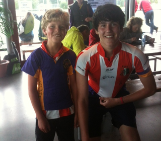 Dan swapping shirts with a HIC player!