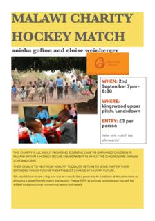 Malawi - charity match