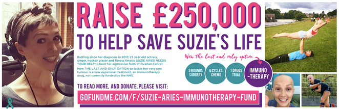 Our very own Suzie needs your help to help raise £250,000 to save her life