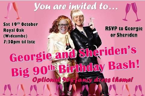 Georgie and Sheridan Big 90th Bash