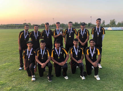 Peterborough Town's winning Under 19 T20 team