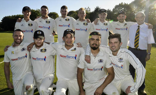 Peterborough Town 1st XI who claimed the 2019 Northants League Premier Division