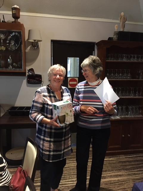 Pat Hall won Best Front 9 at Autumn Meeting 2019