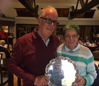 Mixed Greensomes Plate 23rd Oct 19 Winners - Jean Bailey & Mike Bayne with 37points