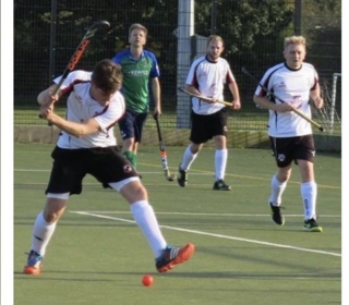 Captain Liam Edwards lining up another strike at goal