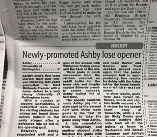 NEWLY PROMOTED ASHBY LOSE OPENER