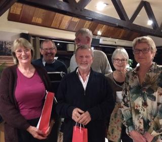 Quiz Night Winners Alan Hodges team