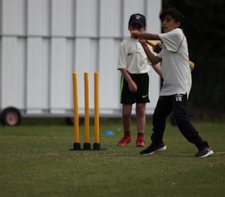 Playing off the back foot at such a early age, well done Vrinda.