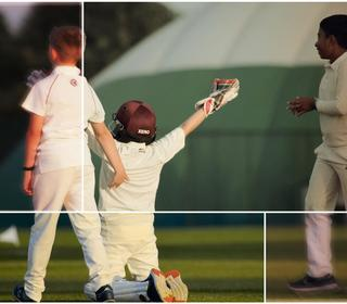 Celebration, love these moments when the kids take a wicket.