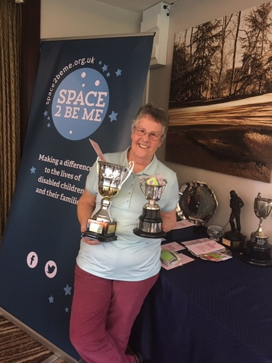 Sue Jelley Lady Captain won the Captains Cup and Ladies Singles