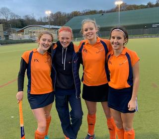 St Neots HCs 2018 county players - Rosie, Tanya, Eleanor and Millie