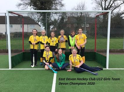 U12 Girls 2020 Devon Champions