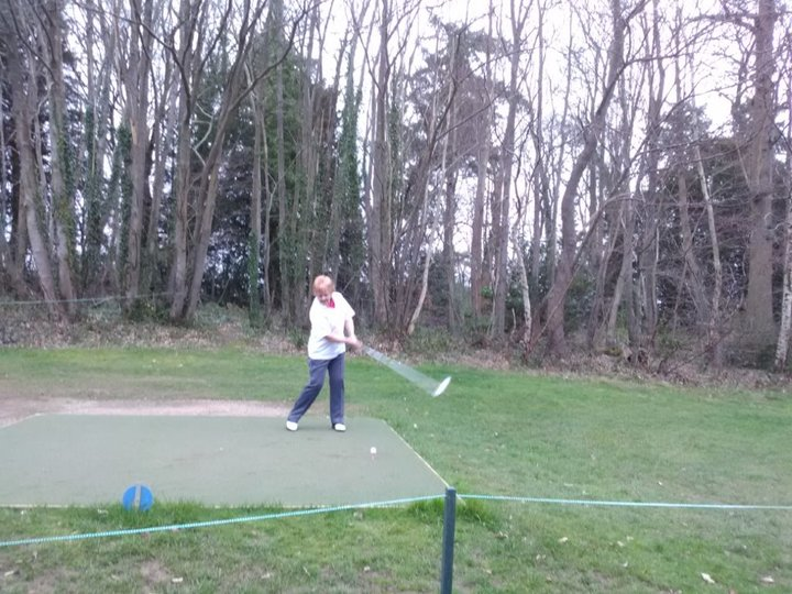 Patricia Sewell Driving in as 2020 Ladies Captain