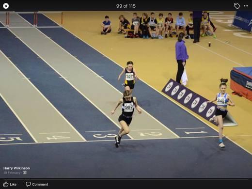 Scottish National Indoor Championships 2020 - U13 60m Hurdles - Lexi Grant