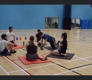 MSC indoor training - Scott's group training - Dean showing us the ropes