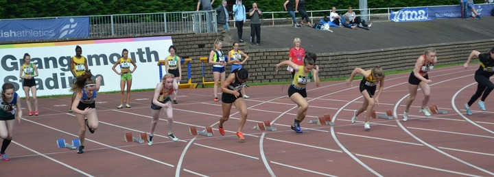 National Championships Grangemouth 2019 - U15 100m - Tamsin Fowlie - Silver