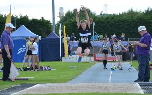 National Championships Grangemouth 2019 - U15 Long Jump - Emma Jones