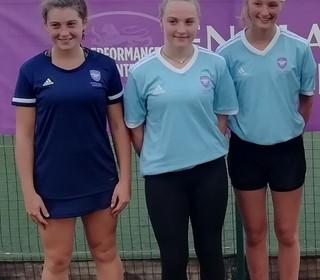 Katie R(L)-U15 Performance Centre/Izzy R(R)-West Panthers, U14 Cornwall Academy,U15 Performance Squa