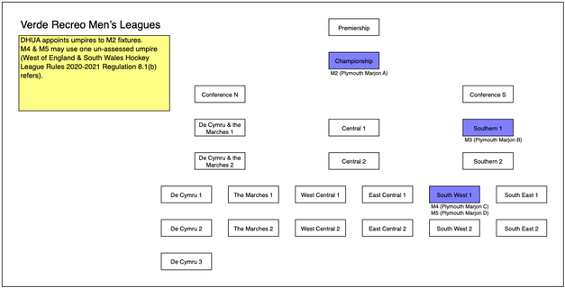 Men's Verde Recreo League Structure