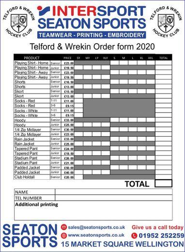 kit order form