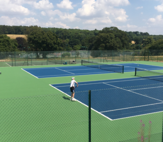 """Our 2 """"top"""" acrylic hard courts"""