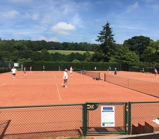 Three of our artificial clay courts