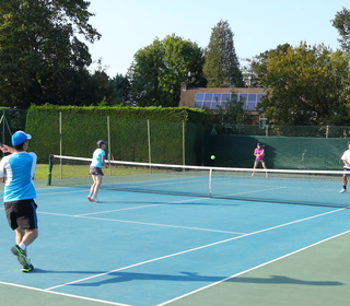 One of our acrylic hard courts