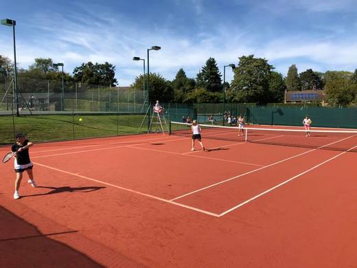Ladies Vets doubles on our newest single clay court